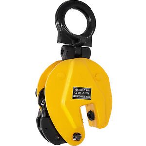 2t 4400lbs Industrial Vertical Plate Lifting Clamp Stable 0 1inch Opening Safe
