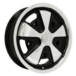 911 Alloy Wheel Polished Withblack 4 1 2 Wide 5 On 205mm Dunebuggy