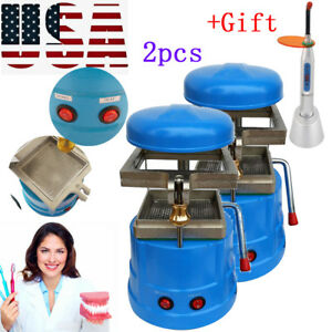 2 dental Vacuum Forming Molding Machine Former Heat Thermoforming Lab Tool gift