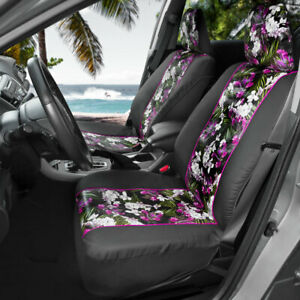 Sideless Car Seat Covers Catalina Floral Interior Front Set W Headrest Covers