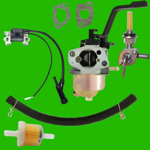 Champion Carburetor W Right Petcock Coil For 46553 46554 46555 Gas Generator