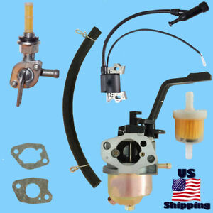 Frontier Carburetor W Right Petcock Coil Fac2t Fpw3000 Ftp300 Pressure Washer