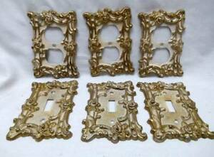 6 American Tack Hardware Co Mid Century Light Switch Outlet Covers Fancy Roses