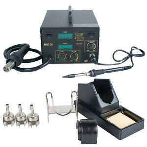 us 2in1 Soldering Iron Rework Stations Smd Hot Air Gun Desoldering Welder