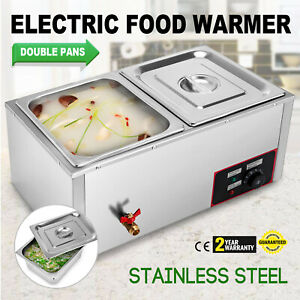 22 2 pan plus Well Bain marie Food Warmer Steam Table 850w With Pans