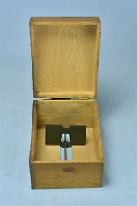 Antique Weis Solid Oak Dove Tail Index Card File Box 8 25 X 6 75 X 5 25 05617