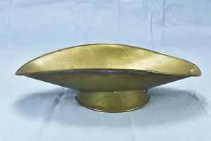 Antique Household Grocery Store Brass Scale Pan Scoop Flat Bottom Produce 06556