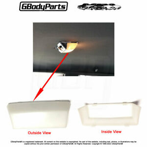 78 88 Cutlass Interior Roof Dome Lamp Reading Light Plastic Lens Cover 1674099