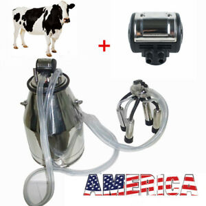 25l Cow Milker Bucket Tank Milking Machine pneumatic Pulsator For Cow Farmer Ups
