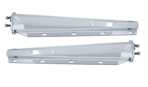 Pair 30 Stainless Spring Loaded Mud Flap Hangers Straight Tapered 2 1 2 Bolt