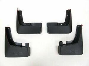 Oem Gm Black Front Rear Molded Splash Guards Mud Flaps For 2010 2015 Gmc Terrain