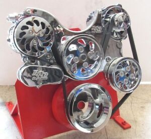 Small Block Chevy 350 383 Lwp Serpentine Kit Complete Chrome Bp 5000c