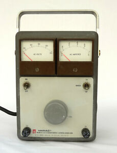 Gr General Radio W5mt3a Variac 0 140 Volt 5 Amp With Meters Tested Nice