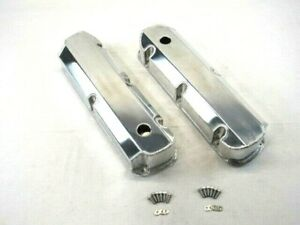 Sbf Ford 289 302 Fabricated Tall Aluminum Valve Covers W Holes Bpe 2323p