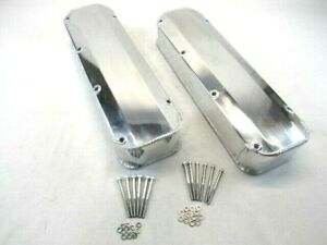Ford 429 460 Fabricated Aluminum Long Bolt Valve Covers Polished Bpe 2339p