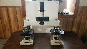 Leitz Wetzlar Forensic Comparison Microscope With Olympus Bh2 s And Camera Mount