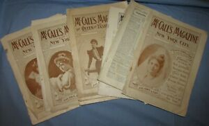 Seven Mccall S Magazines 1890 S 1905 Vintage Fashion Dress