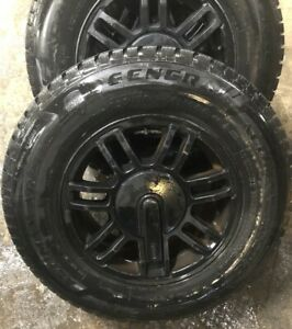 Set Tires And Wheels Painted Black 235 70 R 16 106q General