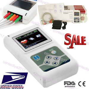Us Seller contec 3 Channel Holter Ecg System pc Software 24 Hours Recorder fda