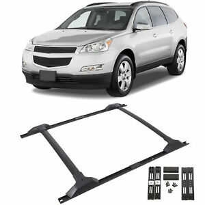 For 09 17 Chevy Traverse Roof Rack Cross Bar Side Rail Package Combo Set