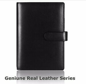 Genuine Leather Planner A4 B5 A5 A6 A7 File Folder With 6 Holes Binder