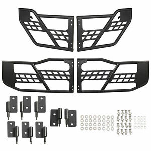 Fits 07 18 Jeep Wrangler Jk Off Road Front Rear Tubular 4 Door Set