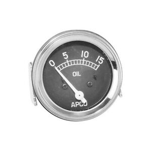 Model A Ford Oil Pressure Accessory Gauge Under Dash Apco Gauge 28 24041 1