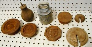 Lot Vintage Cast Iron Scale Weight S