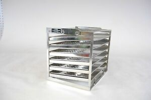 Vintage Stainless Steel Baltimore Biological Laboratory Table Desk Rack 6 Trays