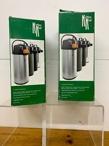 Lot 2 New Coffee Pot Pump Thermal Koffee By The Kup Airpot 2 2l Lever Style