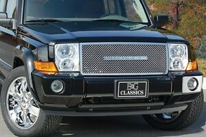 2006 2010 Jeep Commander Heavy Mesh Upper Grille Stainless E G 1362 0104 06