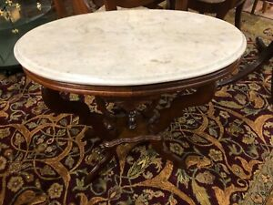 Outstanding Antique Victorian Marble Top Side Table