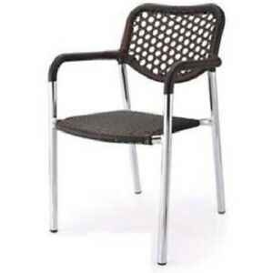 Stella Commercial Aluminum Outdoor Chair With Plastic Wicker