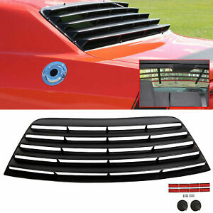 Fits 08 19 Dodge Challenger Window Scoop Louver Rear Sun Shade Cover Black Abs