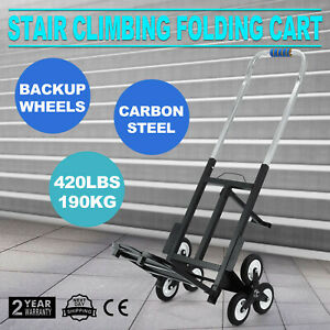 Portable Stair Climbing Folding Cart Climb Up To 420lbs 190kg Adjustable