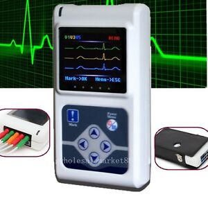 12 lead 3 channel Ecg Holter System recorder Monitor analyzer Pc Software Best