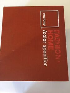 Pantone Fashion Home Collection Color Specifier Chip Book Used