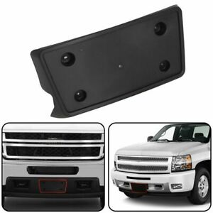 2007 2013 Fits Chevy Silverado Front Bumper License Plate Tag Bracket Holder