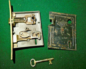 R E Russell Erwin Mortise Lock 013 W Key Reconditioned 9779 2