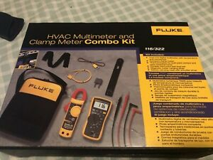 Fluke Hvac Multimeter And Clamp Meter Combo Kit 116 322