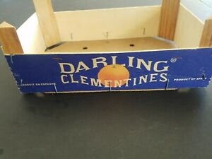 Vintage Wooden Wood 1950 S Darling Clementines Small Crate Box Made In Spain