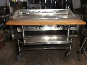 Keating 48 Miraclean Gas Grill griddle With Stand Cutting Board Exceptional