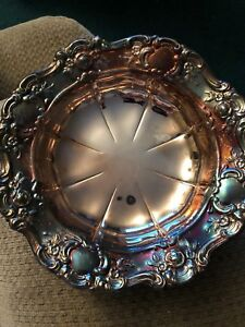 Vintage Towle Silver Plate 7 5 Nut Or Candy Dish Fancy Ornate Pattern Bowl