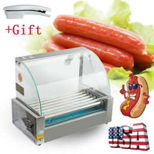 Electric Roller Commercial 18hotdog Hot Dog 7 Roller Grill Cooker Machine Easy