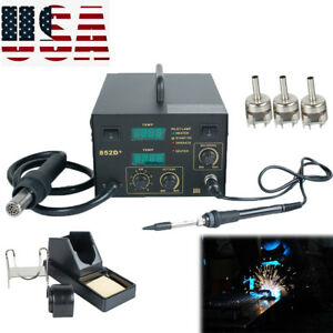 2in1 Soldering Iron Rework Stations Smd Hot Air Gun Desoldering Welder Machine