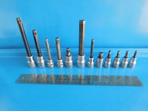 Used Hazet Stahlwille Triple Square Hex Sockets Lot Of 12 Total