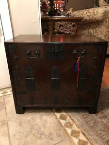 Beautiful Antique Korean Bandaji Chest 19th Century Beautiful Det Embellishments