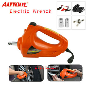 Car Impact Wrench Gun Tyre Change Repair Tool With Socket Electric Wrench 12v
