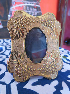 Antique Victorian Repose Brass Small Photo Frame