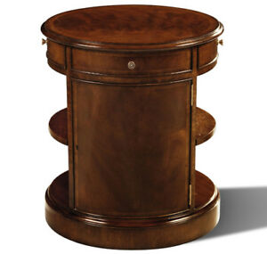 Crotch Mahogany Drum Stand Table